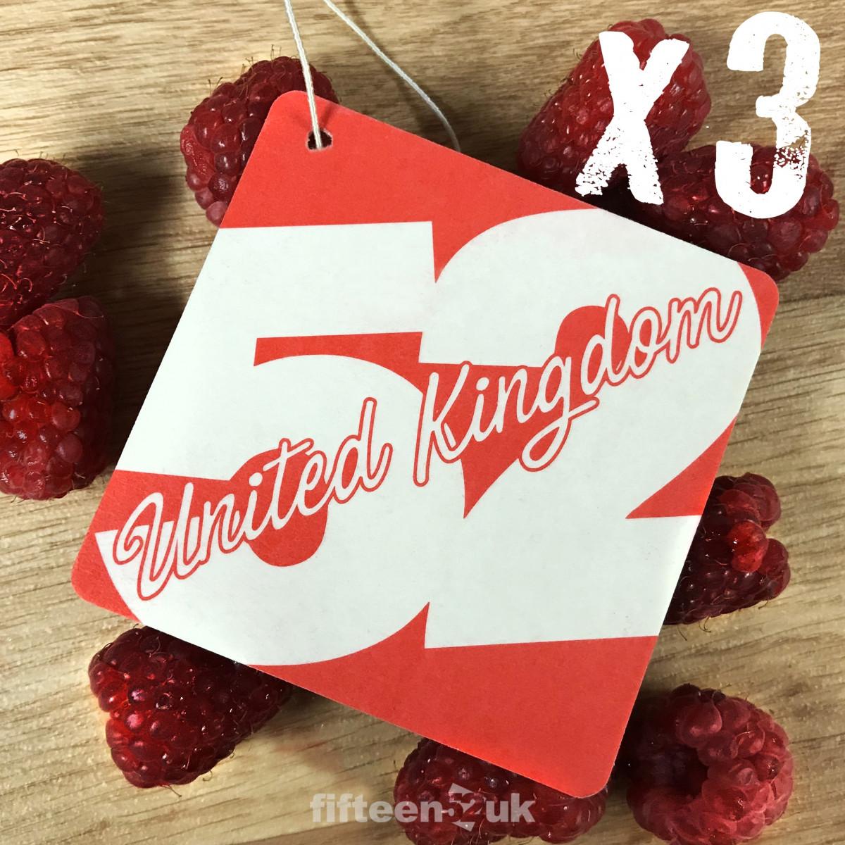 fifteen52UK Raspberry Air Freshener - Pack of 3