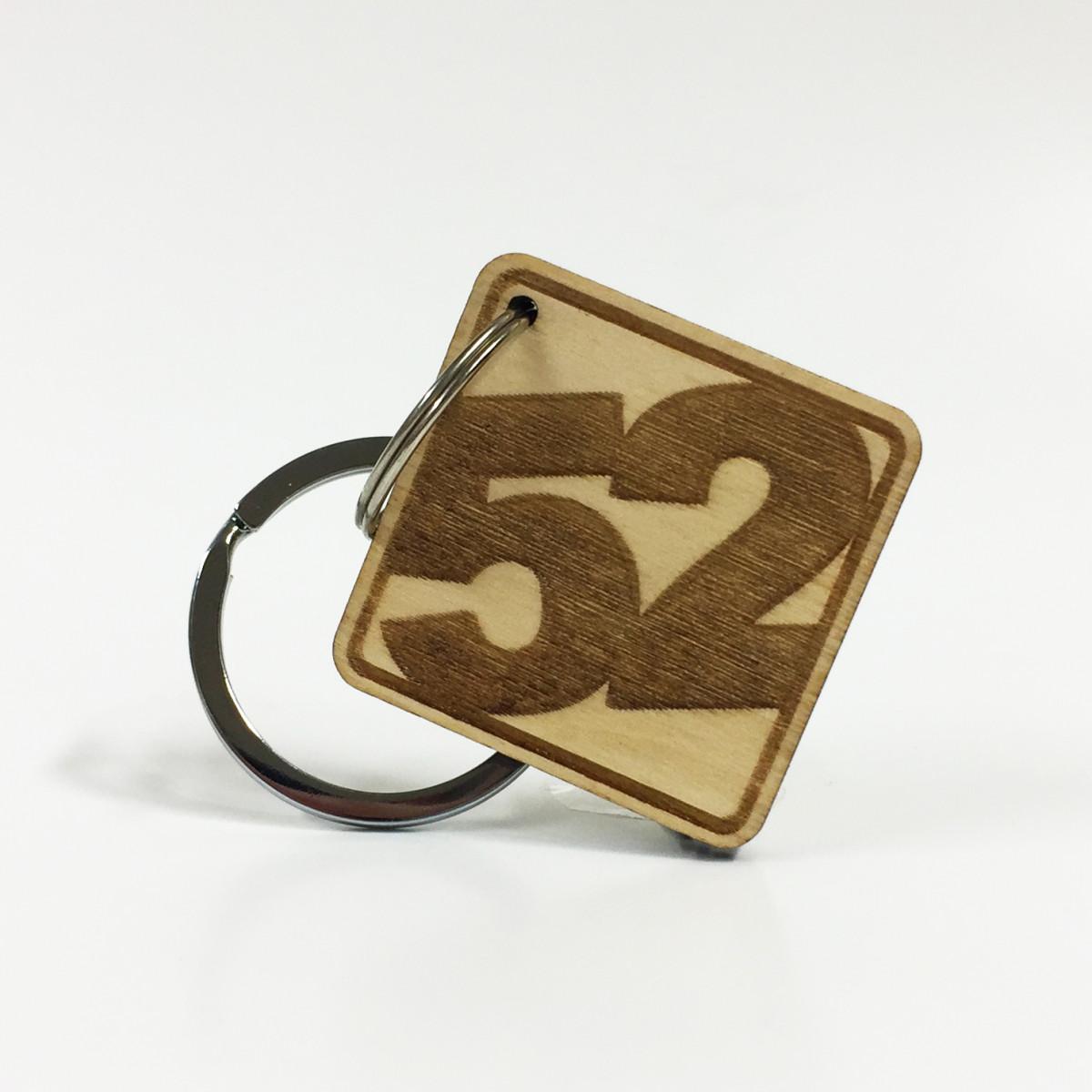 Birch Ply '52' Key Ring - Series 001