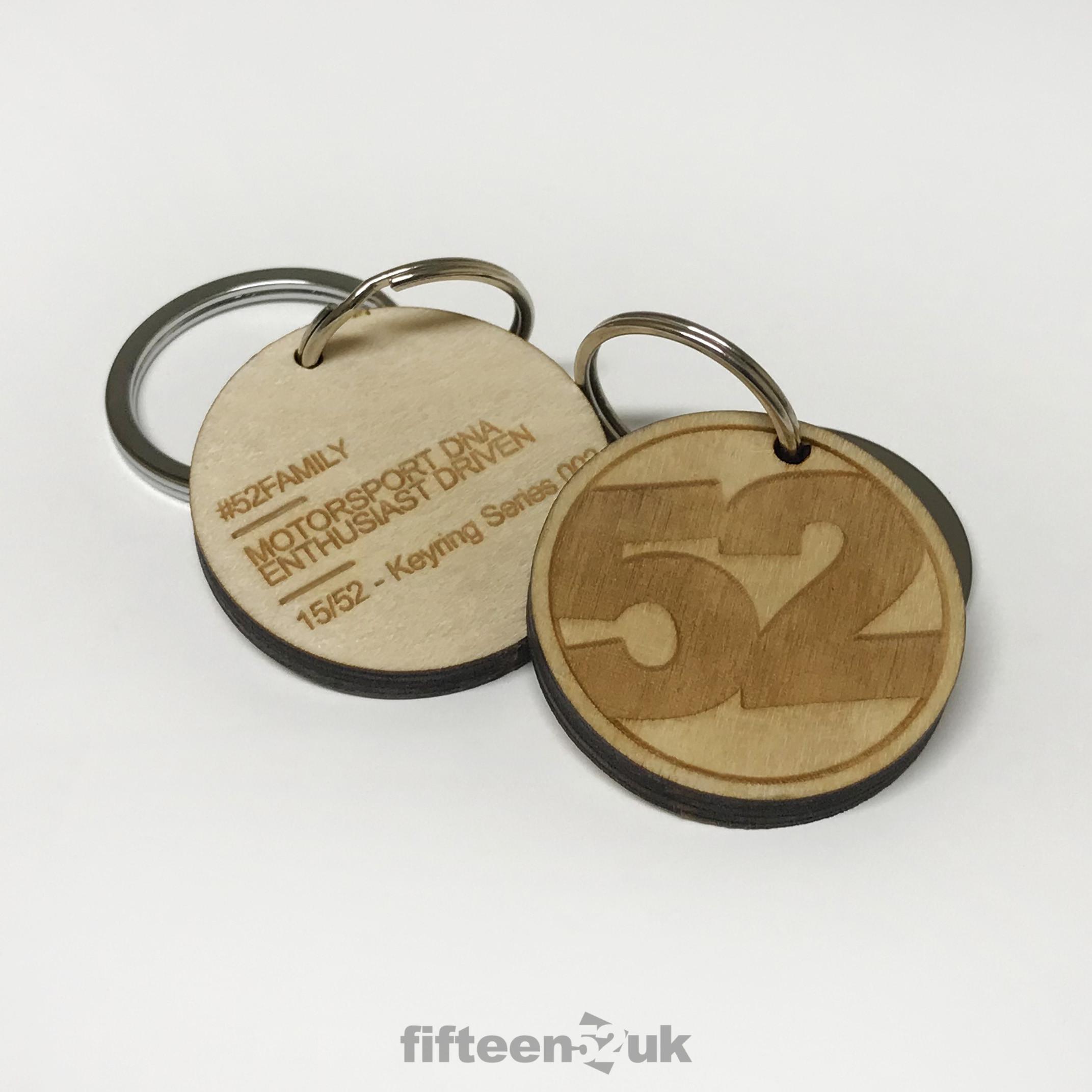 Birch Ply '52' Key Ring - Series 002