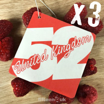 fifteen52UK Raspberry Air Freshener - Pack of 3
