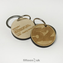 Birch Ply '52' Key Ring - Series 002