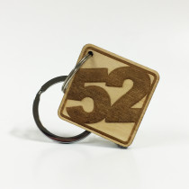 Birch Ply '52' Key Ring - Series 001